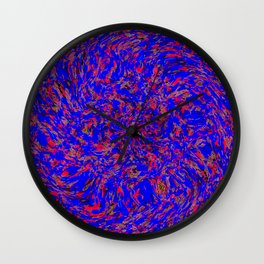 whirlwind blue and red Wall Clock