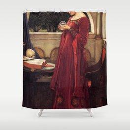 John William Waterhouse - The Crystal Ball Shower Curtain