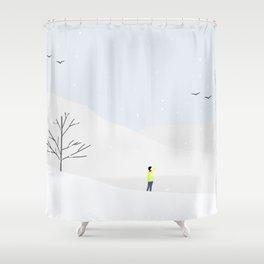 Sunny Day, Warm Winter Shower Curtain