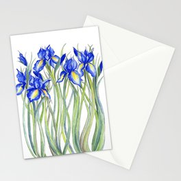 Blue Iris, Illustration Stationery Cards