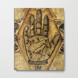 Hand of the Mysteries Metal Print