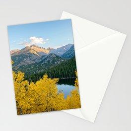 BEAR LAKE AUTUMN COLORADO ROCKY MOUNTAIN NATIONAL PARK FALL LANDSCAPE Stationery Cards