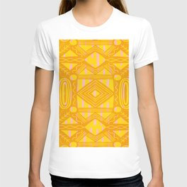 vintage kantha: orange & yellow T-shirt