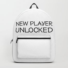New Player Unlocked, Gamer Gift, Video Game, Gaming Backpack