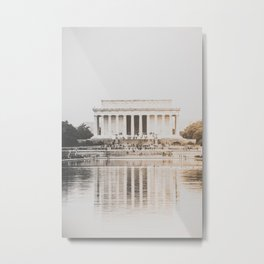 Lincoln Memorial at Dusk Metal Print