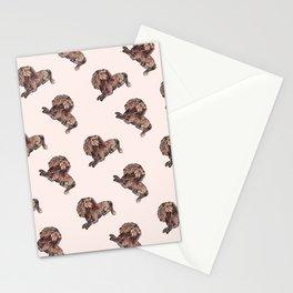 Dog Pattern 2 on Girly Pink Stationery Cards