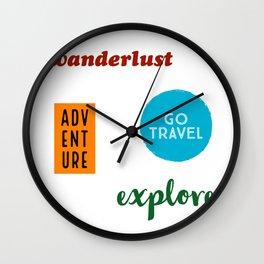 Travel Sticker Pack Wall Clock