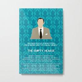 The Empty Hearse - Mycroft Holmes Metal Print