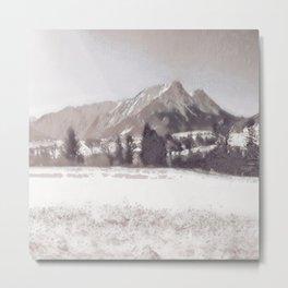 Winterly Landscape II Metal Print