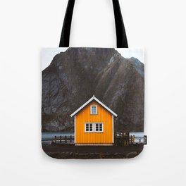 Yellow Cabin Tote Bag