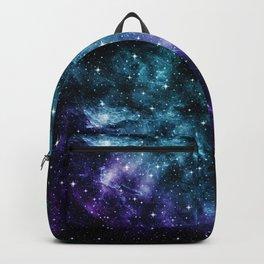 Teal Purple Galaxy Nebula Dream #1 #decor #art #society6 Backpack