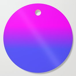 Neon Blue and Hot Pink Ombré Shade Color Fade Cutting Board