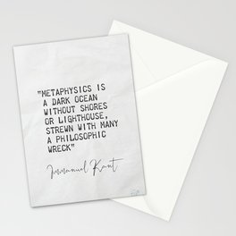 Immanuel Kant quote 120421 Stationery Cards