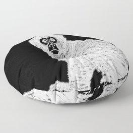 Monkey (Black and White) Floor Pillow