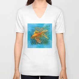 Golden Fish  Unisex V-Neck