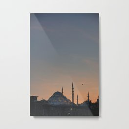 A picture of the mosques of Istanbul in the sunset Metal Print