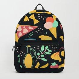 Italian food - Black chalkboard  Backpack