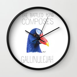 The Baffled King Composes Gallinuleyah (Purple Gallinule) Wall Clock