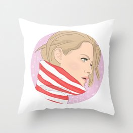 Kristen Stewart Galaxy Throw Pillow