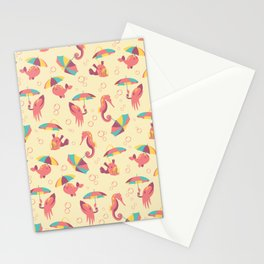 A Chance of Rain - Coral & Cream Stationery Cards
