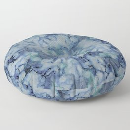 Blue Marble Floor Pillow