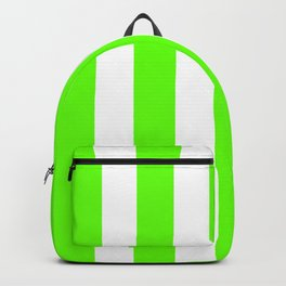 Green slime - solid color - white vertical lines pattern Backpack