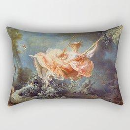 Jean-Honoré Fragonard - The Swing Rectangular Pillow
