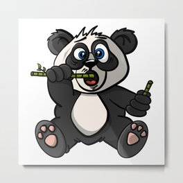 Maxx The Panda - Cartoon Animals Metal Print