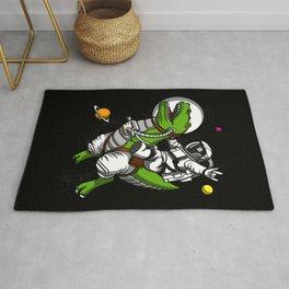 Astronaut Riding Space T-Rex Dinosaur Rug