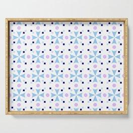 star and polka dot 6 - blue Serving Tray