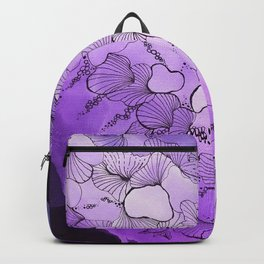 Tranquil Mauve Doodle Backpack