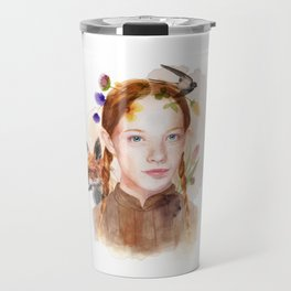 Anne with an E Watercolor Travel Mug
