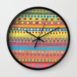 Multi Dots & Stripes Wall Clock