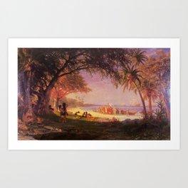 Albert Bierstadt - The Landing of Columbus Art Print
