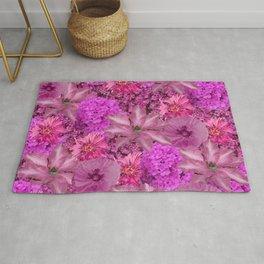 Flower power in pink Rug