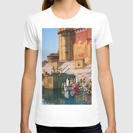 Yoshida Hiroshi - The Ghat At Varanasi - Digital Remastered Edition T-shirt