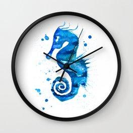 Seahorse blue Wall Clock