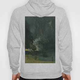 Nocturne In Black And Gold The Falling Rocket By James Mcneill Whistler | Reproduction Hoody