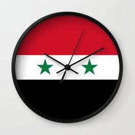 Flag of Syria - Syrian Flag Wall Clock