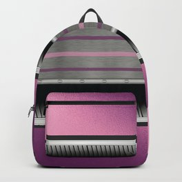 Pink Purple Metallic Accented By Black Chrome Steampunk Jaws Backpack