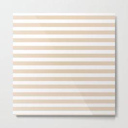 Taupe + Stripe Metal Print