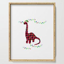 This Is My Christmas Pajama Dino Brachiosaurus Serving Tray