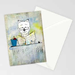 West Highland White Terrier ~ Westie ~ Sophisticated Wally ~ Ginkelmier Stationery Cards