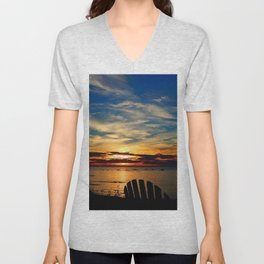 Peace and Relaxation at the Sea shore Unisex V-Neck