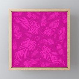 Leaves V2 FUCHSIA2 Framed Mini Art Print