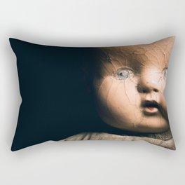 Creepy Doll Rectangular Pillow