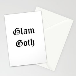 glam goth black text Stationery Cards