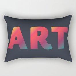 Art, minimalist typography, minimalist illustration, colorful, inspiring wall ar, inspirational word Rectangular Pillow
