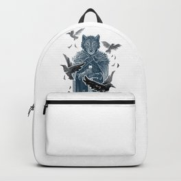 Wolf And Ravens Backpack