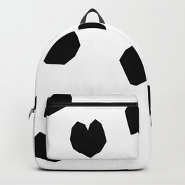 Love Yourself no.2 - black heart pattern love minimal black and white illustration Backpack